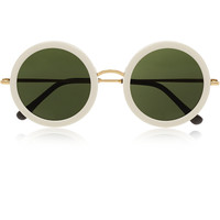The Row - Round-frame acetate and metal sunglasses