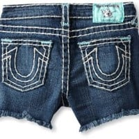 True Religion Big Girls' Bobby Cut-Off Short With Bartacks And Back Label