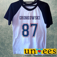 Men's Short Sleeve Raglan Baseball T-shirt - Rob Gronkowski design