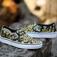 Trendsetter Vans Slip-On Print Old Skool Canvas Flat Sneakers Sport Shoes