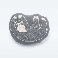 Woodblock Sloth Cushion - Urban Outfitters