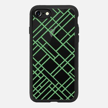 Map Outline 45 Green Transparent iPhone 7 Case by Project M | Casetify