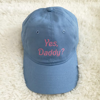 Yes Daddy Blue Baseball Hat