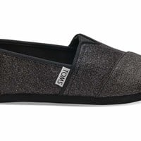 TOMS - Youth Black Iridescent Glimmer Classics Slip-Ons