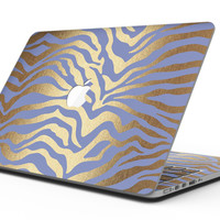 Gold Flaked Animal Blue Zebra - MacBook Pro with Retina Display Full-Coverage Skin Kit