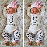 US Newborn Kid Baby Girl Clothes Romper Jumpsuit Bodysuit One Piece Outfit Fall