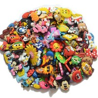 100pcs PVC Different Shoe Charms for Croc & Bracelet Wristband Kids Party Birthday Gifts