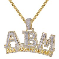 14k Gold Finish ABM All About Money Hip Hop Rapper Pendant