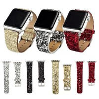 Glitter Leather Apple Watch Band