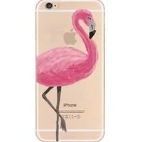 iPhone 6 Case, DECO FAIRY® Protective Case Bumper[Scratch-Resistant] [Perfect Fit] Translucent Silicone Clear Case Gel Cover for Apple iPhone (One pink flamingo iPhone 6)
