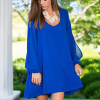 Swing It Dress, Royal Blue