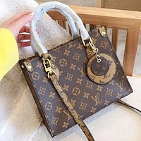 LV Louis vuitton Fashion new monogram leather shopping leisure shoulder bag crossbody bag