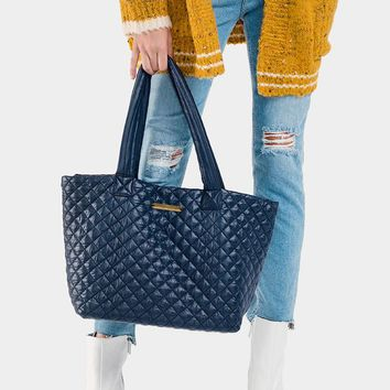 Quilted Large Tote Bag (Click For More Colors)