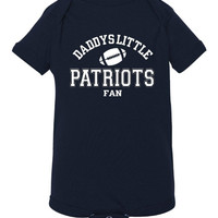 Daddys Little Patriots Fan Toddler And Youth T-Shirt New England Fans Printed Tee for Kids Creepers & T-Shirts. Makes a Great Gift!!