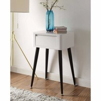 Black and White Side Table with Tall Legs -4DC Concepts