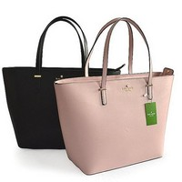 2018 Kate Spade New York Women Fashion Shopping PU Tote Handbag Shoulder Bag 2 Colors Black,Pink