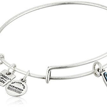 Alex and Ani Charity By Design Living Water International Rafaelian Silver Bangle Bracelet