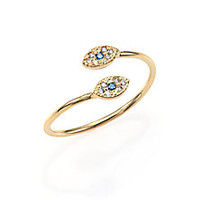 Jacquie Aiche - Multicolor Diamond & 14K Yellow Gold Double Eye Wrap Ring - Saks Fifth Avenue Mobile