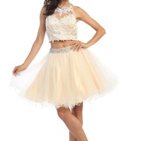 Prom Two Piece Set Dress Homecoming Short