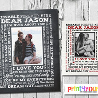 Couples Keepsake // Personalized Printable 8x10 Valentines Day Gift for Him or Her // Girlfriend Gift // Boyfriend Gift // Appreciation Gift