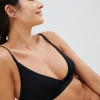 Weekday Fine Rib Soft Bra at asos.com