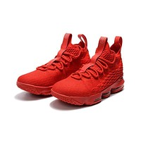 Nike LeBron 15 Red Ohio State PE Sneakers Men Sports Shoes