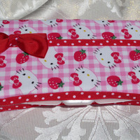 Pink and Red Hello Kitty Baby Wipe Case