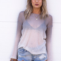 Ombre Light Weight Knit Sweater