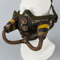 Mens Mask - Gas Mask - Face Mask - Cosplay Mask - Larp Mask - Copper Mask  - Post Apocalyptic Tribal - Bicycle Mask