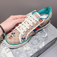 GUCCI x Disney Mickey Mouse Women Casual Sneakers Sport Running Shoes