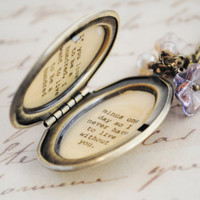 Women's Locket - Friendship Jewelry - Winnie the Pooh Quote - If you live to be a hundred I want to live to be a hundred minus one day