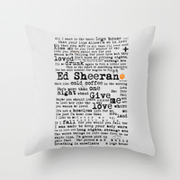 Ed Sheeran + Throw Pillow by Adel | Society6