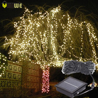 Waterproof 10m 100 LED Christmas Solar Lights Outdoor Wedding Party String Lights For Home Garden Christmas Holiday Decorations