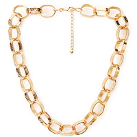 FOREVER 21 Simply-Stated Chain Choker Gold One