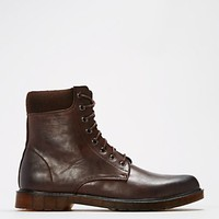 Brown Laced Combat Boot