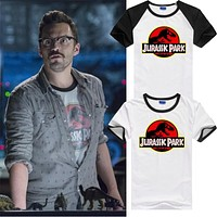 Jurassic Park movie world Logo similar to movie appearance Tee T-Shirt Cotton