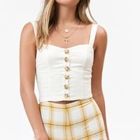 Lottie Moss Button Down Linen Tank Top at PacSun.com
