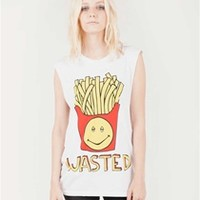WASTED FRIES Unisex Muscle Tee