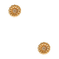 FOREVER 21 Garden Party Glam Floral Studs Gold/Clear One