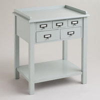 Gray 5-Drawer Preston Table - World Market