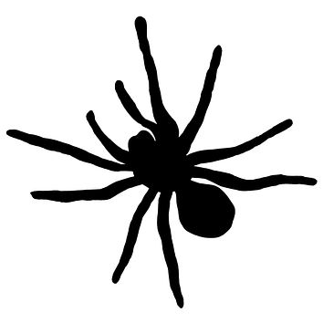 Black Spider Waterproof Temporary Tattoos Lasts 3 to 4 days Choose Small, Medium or Large Sizes
