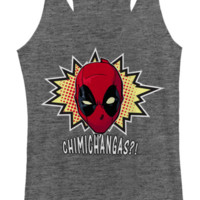 Deadpool Chimichangas Racerback Tee