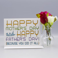 Single Mom Mother's Day Card
