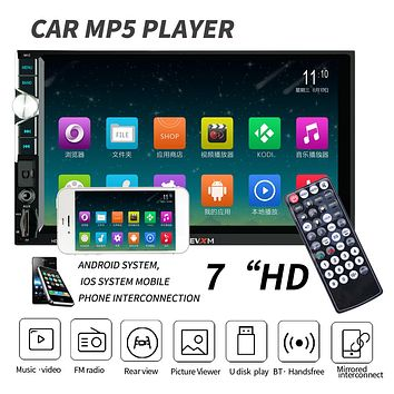 HEVXM Car Auto Radio Player MP5 7Inch HD Touch Screen Bluetooth for Android iOS