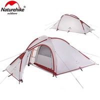 NatureHike Outdoor 2-3 person waterproof Camping Tents 3 seasons family travel hiking Tent One Bedroom & One Living Room tents