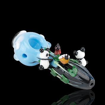 Empire Glassworks Climbing Pandas Pipe - Small