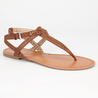 Bamboo Warner Womens Sandals Chestnut  In Sizes