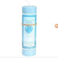 Tranquility Candle with Turquoise Heart Shaped Pedant