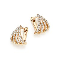Dana Rebecca Designs14K Yellow Gold Sarah Leah Diamond Huggie Hoop Earrings