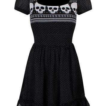 Hell Bunny Yule Black Mini Dress